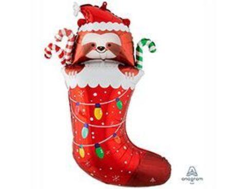 Носок новогодний и Ленивец