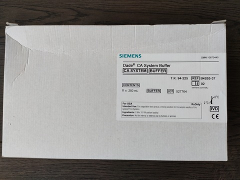 10873440 B4265-37 Буфер для системы Dade CA (Dade CA System Buffer), 8 x 250 мл