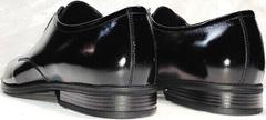 Красивые туфли мужские кожаные черные лаковые Ikoc 2118-6 Patent Black Leather