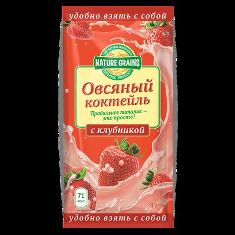 Компас здоровья Овсяный коктейль с клубникой 25 г