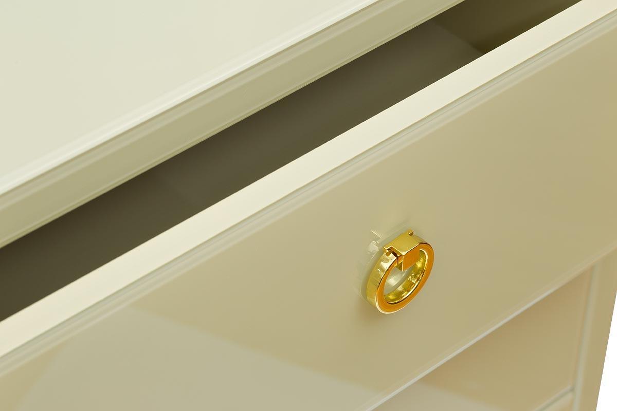 Комод со стеклянной столешницей бежевый (KFG005E7) Garda Decor