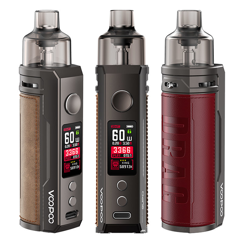 VOOPOO DRAG S Kit | 2500mAh 60W - купить по 19 900 ₸ | PARAVAPE Vape Shop - 19 900 ₸