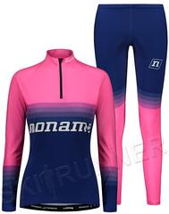 Элитный гоночный раздельный лыжный комбинезон Noname On The Move Race Blue/Pink 21 UX женский