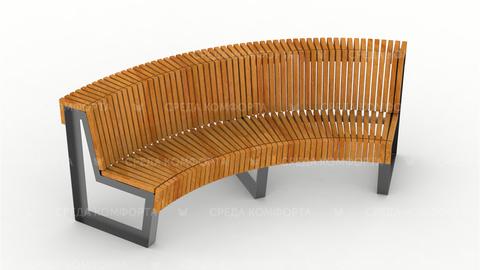 Полукруглая скамейка SCAM0010