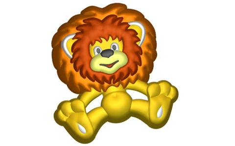 Львенок. Форма для мыла пластиковая