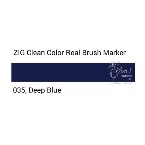 Маркер акварельный ZIG Clean Color Real Brush- штучно - 035