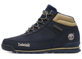 Мужские Ботинки Timberland Euro Sprint Waterproof Navy Blue С Мехом Roll