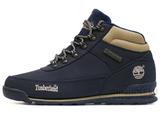 Мужские Ботинки Timberland Euro Sprint Waterproof Navy Blue С Мехом Roll