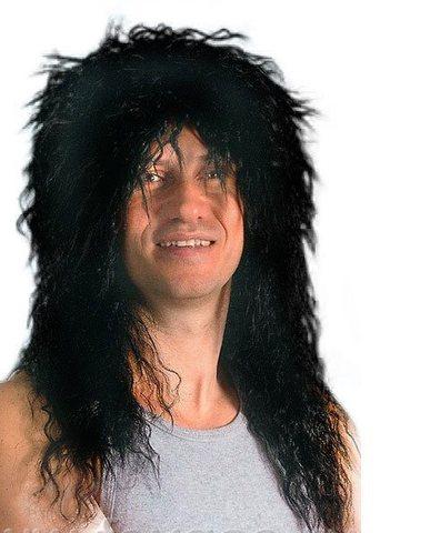 Парик рок-звезды мужской черный