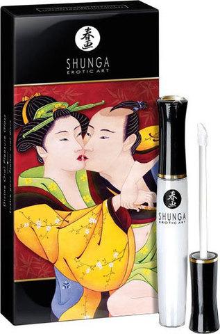 Возбуждающий блеск для губ Shunga со вкусом клубники и шампанского - Божественное удовольствие  - 10 мл.