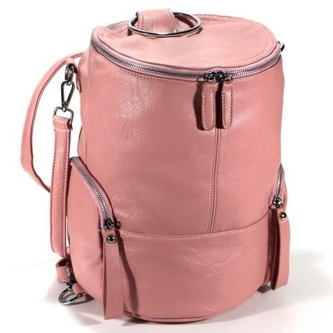 Розовый рюкзак из искуственной кожи
