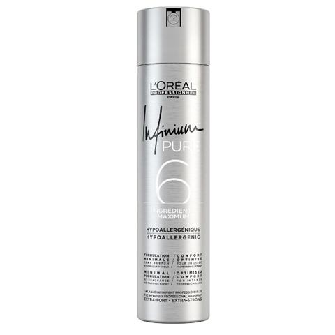 L'Oreal Professionnel Infinium Pure: Лак для волос экстра сильной фиксации без запаха (Extra Strong Hair Spray), 300мл/500мл