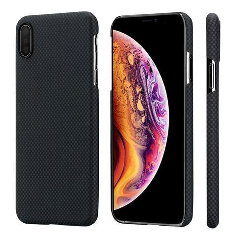 Чехол Pitaka MagCase для iPhone XS Max Plain (черно-серый клетка)