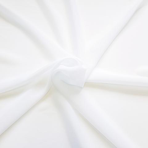 Креп шифон белый холодный оптом. Ш-300 см. Турция.