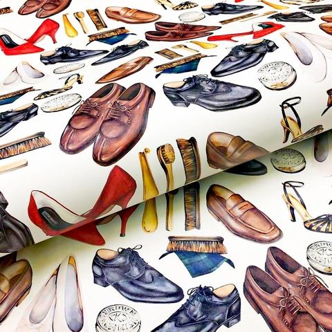 Бумага декоративная упаковочная День чистых ботинок