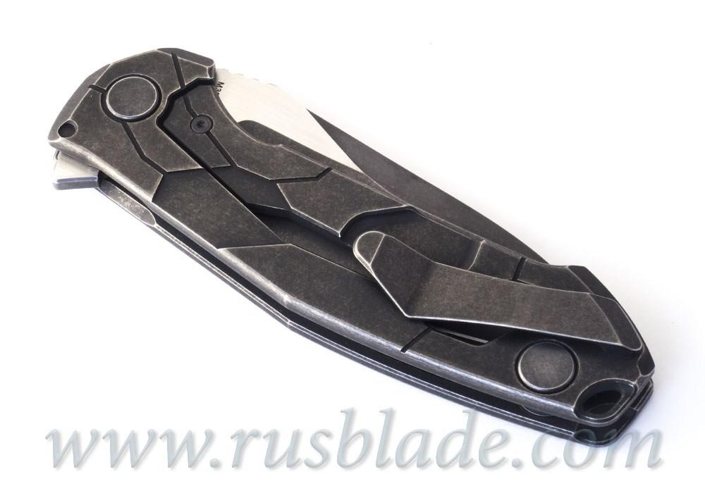 CKF T14B (new T90) knife - Alexey Konygin, M390, Copper, Ti, Sale Card - фотография