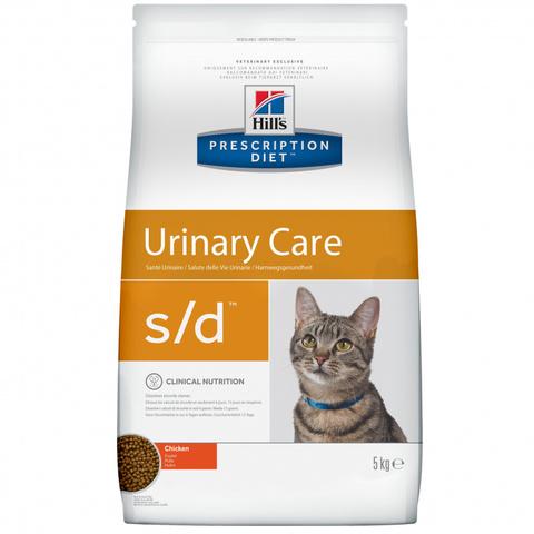 Корм Hill's Prescription Diet s/d Urinary Care Сухой диетический корм для кошек при лечении мочекаменной болезни с курицей 1.5 кг