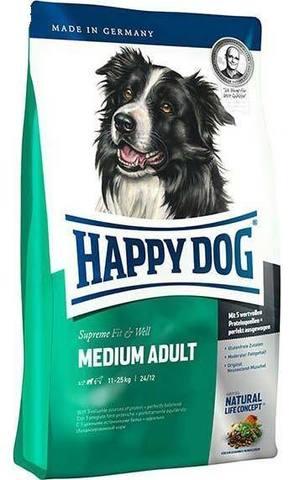 12,5 HAPPY DOG Сухой корм для взрослых собак средних пород Supreme Fit&Well Medium Adult