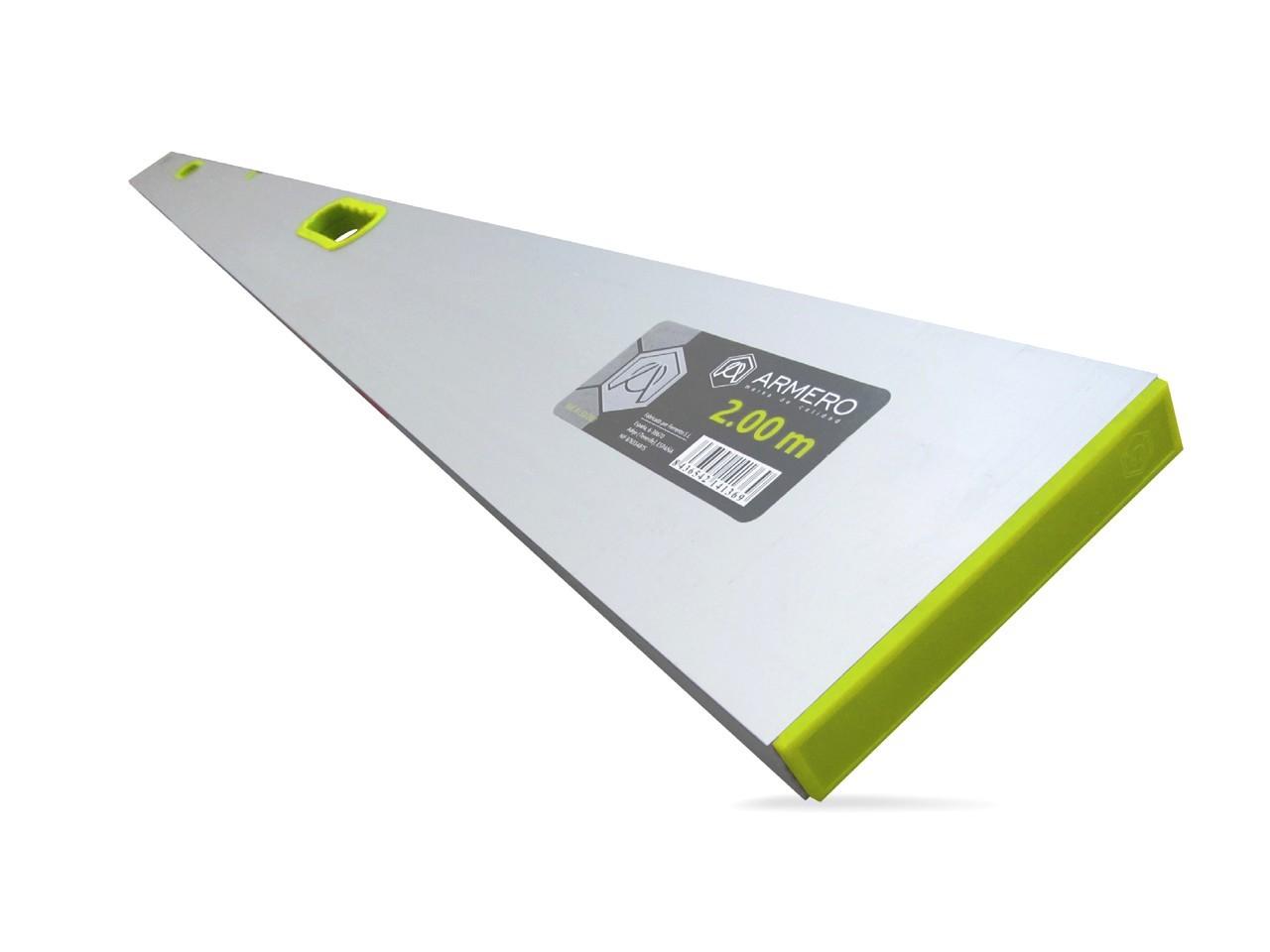 Правило алюминиевое A132/200 с рукоятками, 2.0м