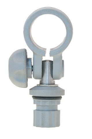 Хомут с адаптером Rl032 для трубы Ø 32 мм, серый