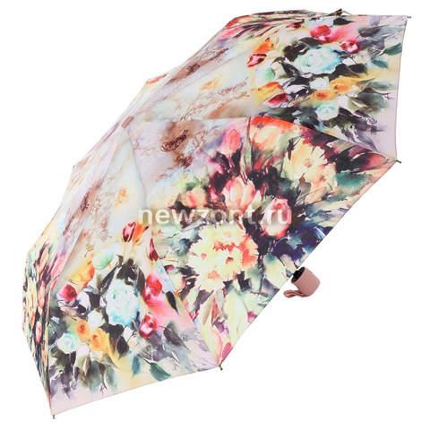 Плоский автоматический зонт Lamberti «Фонтан ярких цветов»