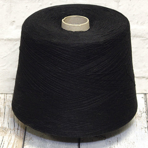 Смесовка с ангорой (5%) и кашемиром (5%) NEW MILL / BASIC 1/14.5 черный