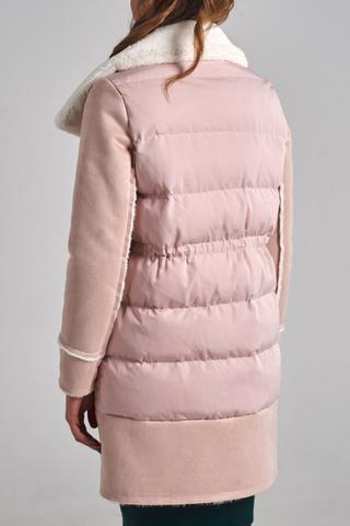 Куртка удлиненная с широким воротником купить