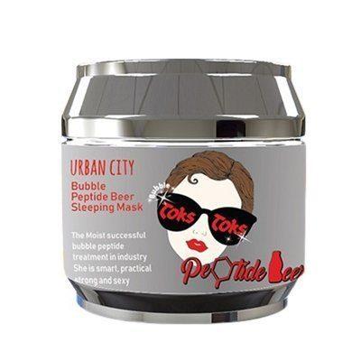 Маска для лица ночная пептидная Baviphat Urban City Bubble Peptide Beer Sleeping Mask