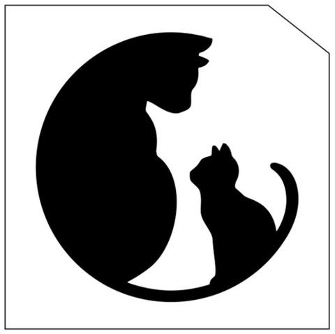 Трафарет для блеск-тату 6*6 кошка 189К