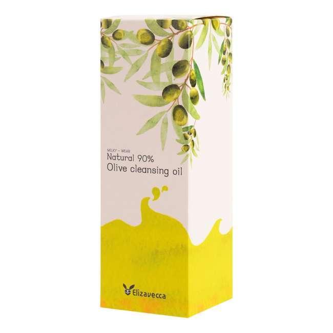 Гидрофильное масло с натуральным маслом оливы ELIZAVECCA NATURAL 90% OLIVE CLEANSING OIL (300ml)