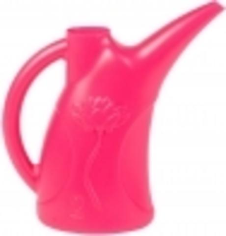 Лейка Листок Цветок 2л розовая