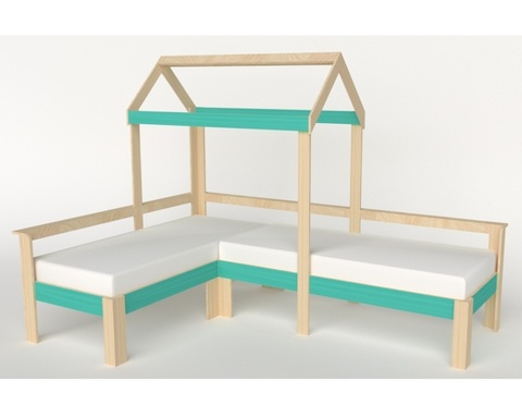 Кровать АВАРА-1-1700-0700 /2552*1800*1832/ правая