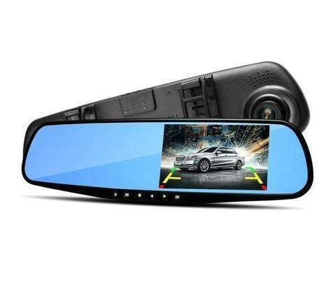 Зеркало-видеорегистратор Vehicle Blackbox DVR Full HD 1080 с камерой заднего вида