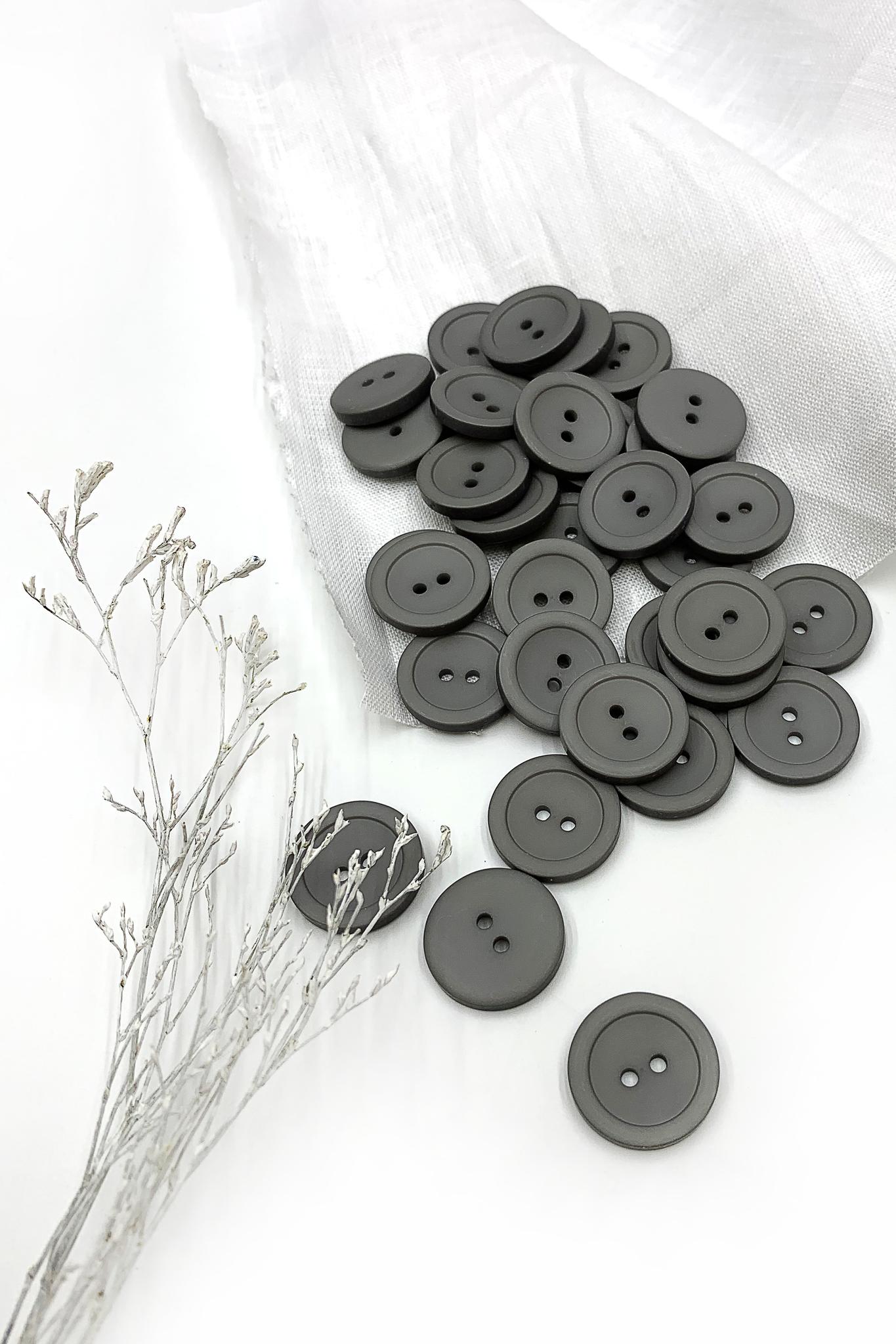 Пуговица,серый,19 мм