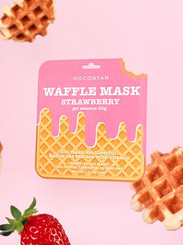 Kocostar Тонизирующая вафельная маска для лица «Клубничный фреш» / Waffle Mask Strawberry