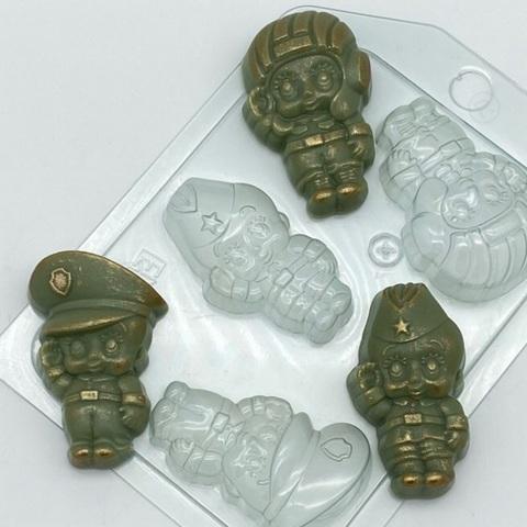 Пластиковая форма для шоколада муж. МАЛЫШИ МИНИ №2 (55х30мм размер 1 фигурки)