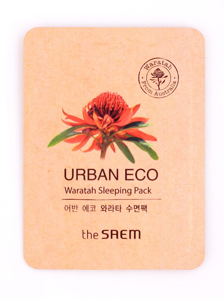 Тканевые Маска для лица ночная с экстрактом телопеи пробник Urban Eco Waratah Sleeping pack - Sample (Pouch) i27122_1484604159_10.jpg