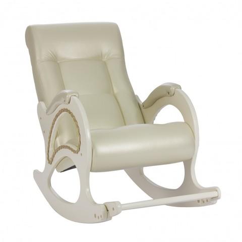 Кресло-качалка Модель 44 (Beige /Дуб шампань) бежевый, без лозы