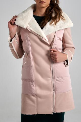 Куртка удлиненная с широким воротником оптом