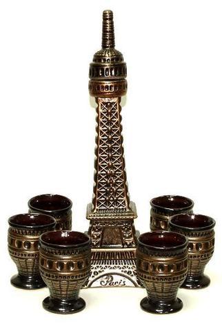 Штоф с рюмками «Париж», 7 предметов, 1 л