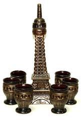 Штоф с рюмками «Париж», 7 предметов, 1 л, фото 1
