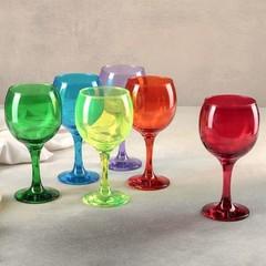 Набор из 6 бокалов для вина «Радуга», 290 мл, фото 1