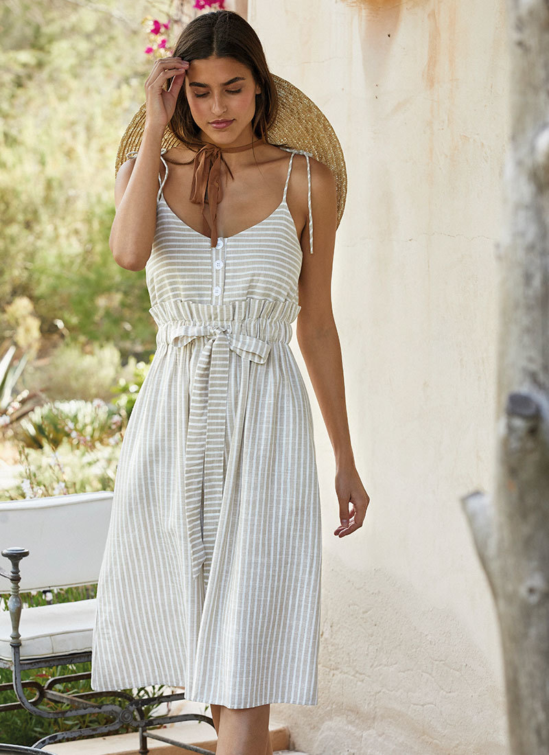 Платье пляжное на тонких лямках YSABEL MORA 85703