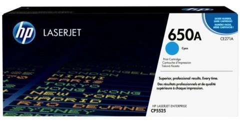 Оригинальный картридж HP CE271A 650A голубой
