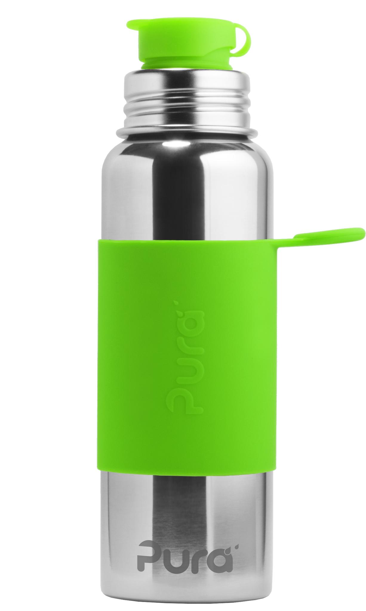 Стальная спортивная бутылка Pura 850 мл (зеленый)