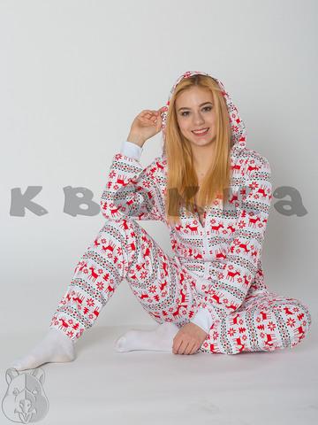 """Комбинезон Квокка хлопковый с начесом """"Скандинавия"""""""