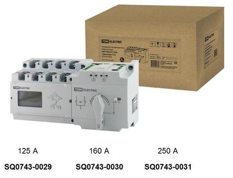 Устройство автоматического ввода резерва АВР-ПНД 4П 125А 380В с дисплеем TDM