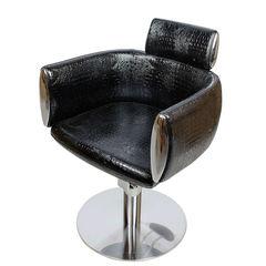 Парикмахерское кресло МД-318 гидравлика хром, круг хром