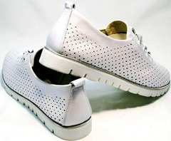 Спортивные женские туфли кроссовки casual летние Mi Lord 2007 White-Pearl.