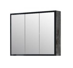 Зеркало-шкаф Corozo Айрон 90, черный, антик